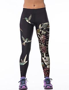 Dame Tights til jogging Fort Tørring Høy Pusteevne Pustende Komprimering Elastisk Bukser Bunner til Yoga & Danse Sko Trening & Fitness Løp