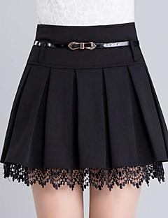 Damen Röcke - Leger / Einfach Übers Knie Polyester Mikro-elastisch