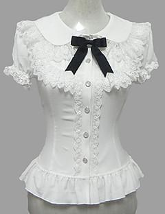 Pusero/hame Söpö Lolita Prinsessa Cosplay Lolita-mekot Valkoinen Pitsi Puhvihiha Lyhythihainen Lolita Pusero varten