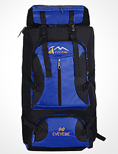 90 L バックパッキング用バックパック ラップトップ用バックパック トラベルオーガナイザー バックパック リュックサック 登山 キャンピング&ハイキング 旅行 防水 耐久性 ラップトップ用バックパック 多機能の ナイロン テリレン 丰途