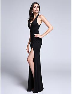 Pouzdrové Do V Vlečka od ramen Úplet Formální večer Šaty s Rozparek vpředu podle TS Couture®