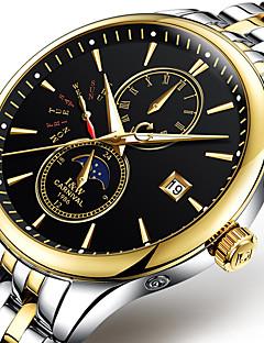Carnival Bărbați Ceas La Modă ceas mecanic Mecanism automat Iluminat faza Lunii Oțel inoxidabil Bandă Cool Casual Alb Auriu Negru