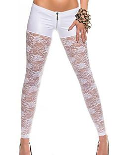 Naisten Yksiväriset Leggingsit,Polyesteri Spandex