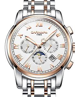 Carnival Bărbați Ceas Sport Ceas Elegant Ceas Schelet Ceas La Modă ceas mecanic Mecanism automat Gravură scobită Iluminat faza LuniiOțel