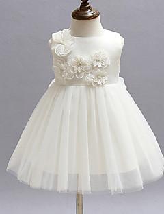 Baby Party/Cocktail Dress Blomstret Polyester Alle årstider Rød / Hvit