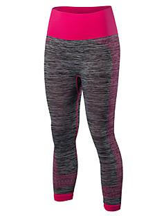 Dame Tights til jogging Fort Tørring Komprimering Bekvem 3/4 Tights Leggings til Yoga & Danse Sko Trening & Fitness Basketball Løp