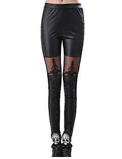 Calças Punk Cosplay Vestidos Lolita Preto Estampado Para Terileno