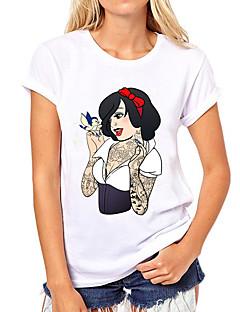 Roupa Lolita Clássica e Tradicional Punk Lolita Princesa Cosplay Vestidos Lolita Estampado Manga Curta Camiseta Para Algodão