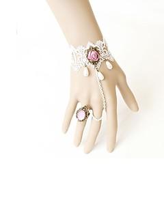 Lolita Accessoires Klassiek en Tradtioneel Lolita Armband Victoriaans Lolita-accessoires Armband Kant Voor Kunst Edelstenen