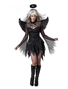 Cosplay Kostumer Festkostume Engel & Djævel Festival/Højtider Halloween Kostumer Sort Patchwork Kjole Mere Tilbehør Halloween Kvindelig
