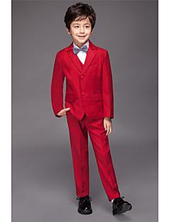 Полиэфир / Комбинирование ткани (полиэфир/хлопчатник) / Серж Детский праздничный костюм - 5 Куски Включает в себяЖакет / Рубашка / Жилет