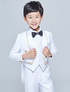 Хлопок Детский праздничный костюм - 5 Куски Включает в себя Жакет / Рубашка / Жилет / Брюки / Галстук-бабочка