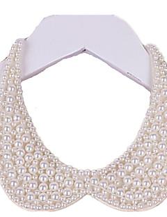 Γυναικεία Κολάρα Μαργαριταρένια Circle Shape Κοσμήματα Μαργαριτάρι Ύφασμα κοστούμι κοστουμιών Χειροποίητο Κομψή Κοσμήματα Για Γάμου Πάρτι