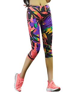 Naisten Juoksutrikoot Nopea kuivuminen Hengittävä Hikeä siirtävä Puristus Kevyet materiaalit Pants 3/4 Sukkahousut Alaosat varten Jooga