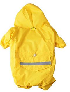 Köpek Yağmur Paltoları Köpek Giyimi Su Geçirmez Sporlar Tek Renk Sarı Kırmzı Mavi Kamuflaj Rengi