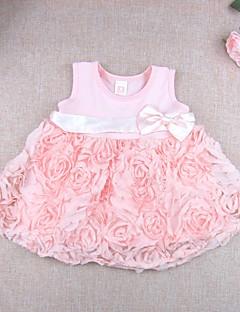 Baby Fritid/hverdag Kjole Ensfarget Blomstret Bomull Modal Sommer Rosa
