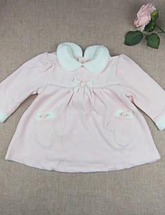 bebê Blusa-Casual Cor Única-Algodão Outros-Primavera Outono-