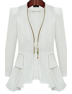 Damen Solide Einfach Lässig/Alltäglich Anzug,Hemdkragen Frühling Herbst Lange Ärmel Standard Nylon