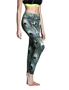 Dame Tights til jogging Fort Tørring Pustende Tights Leggings Bunner til Yoga & Danse Sko Pilates Trening & Fitness Fritidssport Løp