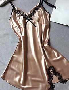 Satin & Soie Vêtement de nuit Femme,Sexy Polyester