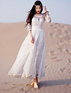 Yksiosainen/Mekot Klassinen ja Perinteinen Lolita Vintage-kokoelma Tyylikäs Prinsessa Cosplay Lolita-mekot Valkoinen Pitsi Vintage