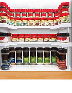2 Set Cozinha Plástico Prateleiras e Suportes