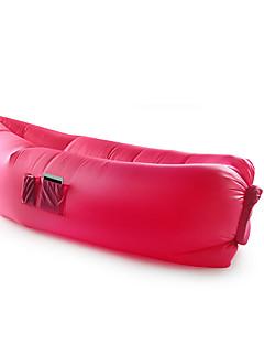 팽창 매트 캠핑 바닷가 낚시 여행 야외 실내 옐로우 그린 레드 핑크 블랙 블루 퍼플 나일론 압축 폴더 휴대용 봄 여름 나이론