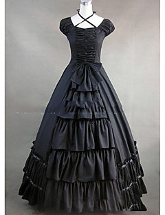Yksiosainen/Mekot Gothic Lolita Lolita Cosplay Lolita-mekot Vintage Holkki Lyhythihainen Täysipitkä Leninki varten Muuta