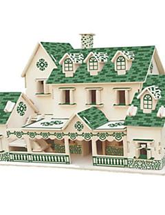 Puzzle Sada na domácí tvoření 3D puzzle Stavební bloky DIY hračky Slavné stavby Architektura Dřevo