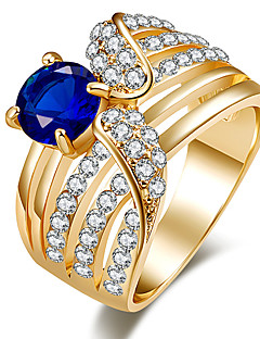 Women's Statement Rings Ring Crystal Basic Unique Design Rhinestone Rhinestones Turkish Luxury Statement Jewelry Classic Costume Jewelry