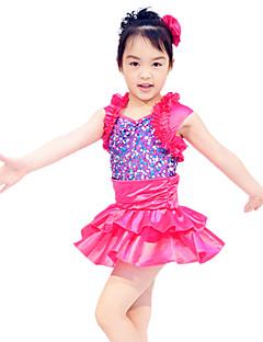 Детская одежда для танцев Юбки и платья Детские Выступление Атласные