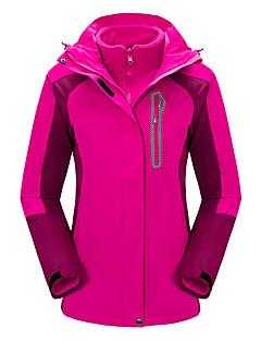 Mulheres Jaquetas 3-em-1 Prova-de-Água Térmico/Quente A Prova de Vento Vestível Respirável Blusas para Acampar e Caminhar Caça Pesca