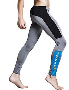 Herre Tights til jogging Slitasje-sikker Pusteevne Tights til Løper Trening & Fitness Polyester Terylene Tett Svart Grå Lilla M L XL