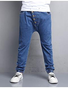 Gutt Jeans Ensfarget Bomull Polyester Høst