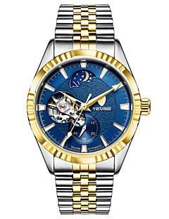 Férfi Sportos óra Szkeleton óra Divatos óra mechanikus Watch Automatikus önfelhúzós Naptár Vízálló Fénylő Világítás Rozsdamentes acél