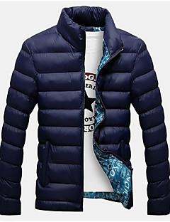 コート レギュラー パッド入り メンズ,カジュアル/普段着 ソリッド コットン ポリプロピレン-シンプル 長袖