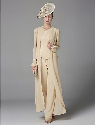 2ddf72f247fa Παντελόνια Με Κόσμημα Μακρύ Σιφόν Φόρεμα Μητέρας της Νύφης με Χάντρες με  LAN TING BRIDE®   Ναι   Εσάρπα περιλαμβάνεται