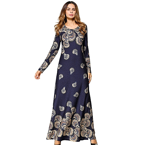 8eefbb99295 Women's Daily Maxi Loose Tunic Dress - Solid Colored Floral All Seasons  Navy Blue L XL XXL