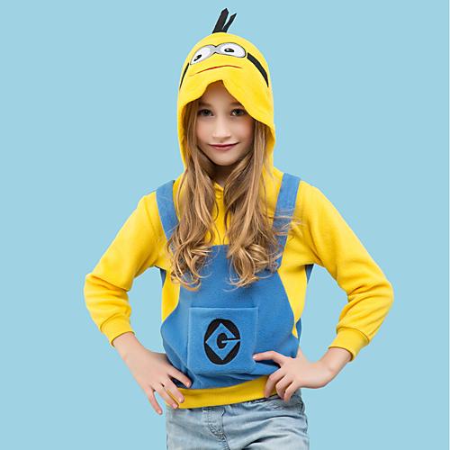 925396101 Buy Kid's Hoodie Kigurumi Pajamas Cartoon Onesie Pajamas Polar Fleece  Yellow+Blue Cosplay For Boys and Girls Animal Sleepwear Cartoon Festival /  Holiday ...