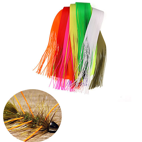 1Pack 40 Strands/Pack 30CM Length Micro Silicone Rubber Skirts for Soft Worm Trout Fly Legs Fishing Jig Lure Skirts