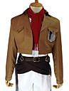 Inspiré par L'Attaque des Titans Mikasa Ackermann Manga Costumes de Cosplay Costumes Cosplay Couleur Pleine Manches LonguesManteau