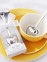 """""""Ora de ceai"""" infuser inimă ceai din oțel inoxidabil în cutie eleganta cadou alb, w16.5cm xl5cm"""