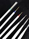Acrylique nail Art minuscule dessin Pen Brush Outils de peinture 3 + 3 par ensemble