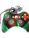controler cu fir șoc dublu cu capac de piele silicon pentru Xbox 360
