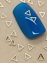 200pcs forme de triangle creux en metal dore decoration art tranche de l\'ongle