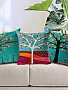 set de 3 colorat floral bumbac copac / lenjerie pernă decorative capac