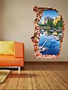 Botanic / Desene Animate / Romantic / Modă / Peisaj / Forme / Fantezie / #D Perete Postituri 3D Acțibilduri de Perete , PVC90cm x 60cm(
