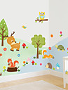 Animale / Botanic / Desene Animate / Romantic / Modă / Vacanță / Peisaj / Forme / Fantezie Perete Postituri Autocolante perete plane , PVC
