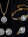 Dame costum de bijuterii Cristal Coliere Σκουλαρίκια Inele Brățară Pentru Nuntă Petrecere Zi de Naștere Logodnă Zilnic Casual Cadouri de