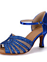 Buric / Latin / Jazz / Pantofi Dans / Modern / Samba / Swing-Pantofi de dans(Albastru / Roșu / Auriu) -Personalizabili-Damă